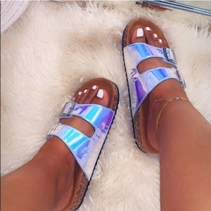 Last pair!!!!!!!Women Hologram Slides